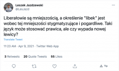 @LesJazd on Twitter: Liberałowie są mniejszością, a określenie