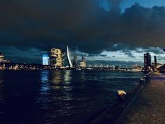 🇳🇱 Erasmusbrug, Rotterdam, at night
