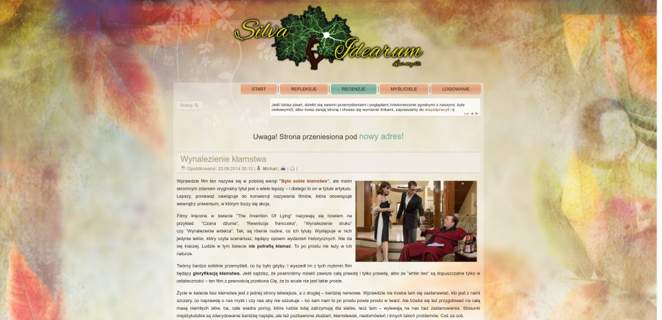 Screenshot of the post page in version 1