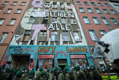 Berlin squat eviction