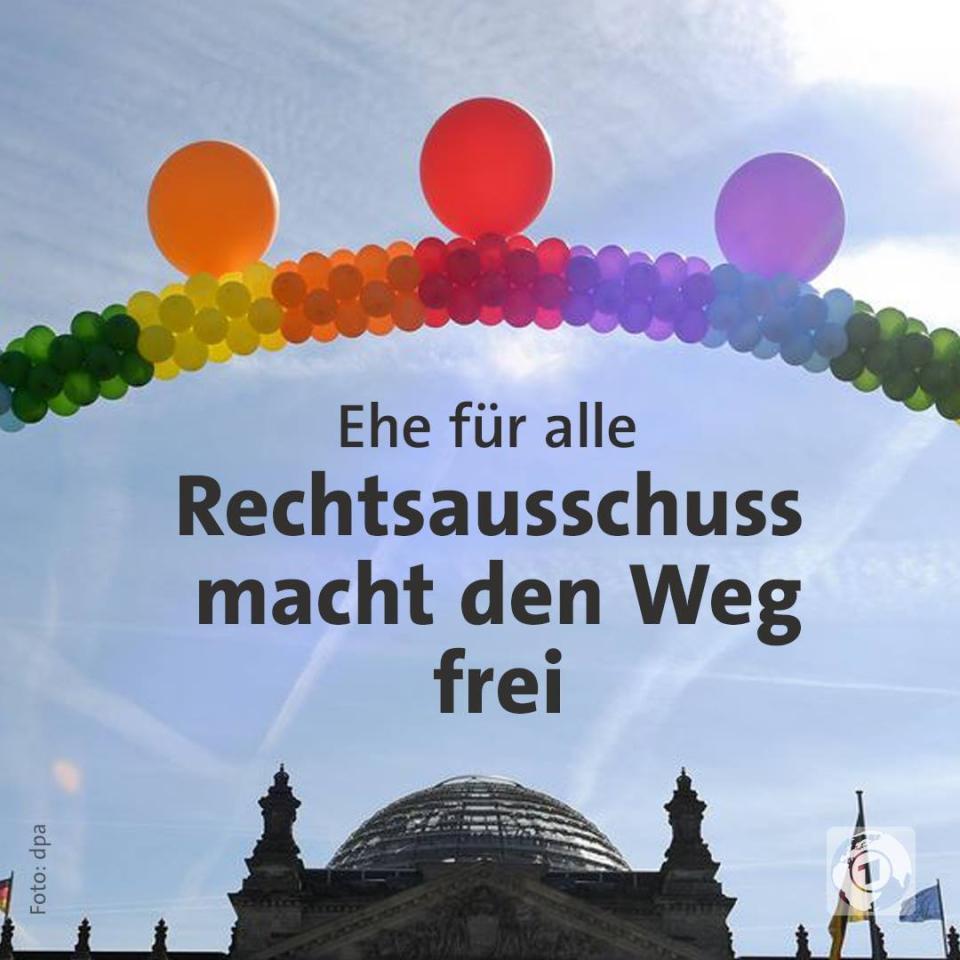 Ehe für alle - Rechtsausschuss macht den Weg frei