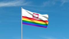 Tęczowa flaga Polski