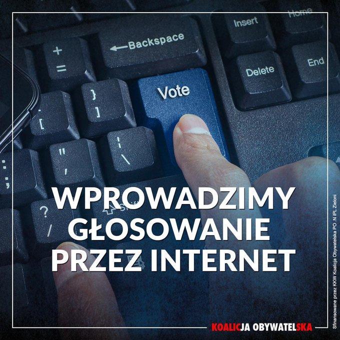 ? Chcemy, żeby jak najwięcej Obywateli mogło wziąć udział w wyborach i referendach. Głosowanie elektroniczne to już standard w zachodnich demokracjach. Czas i na Polskę! #KoalicjaObywatelska #SzóstkaSchetyny
