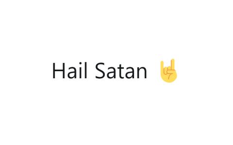 Hail Satan ?