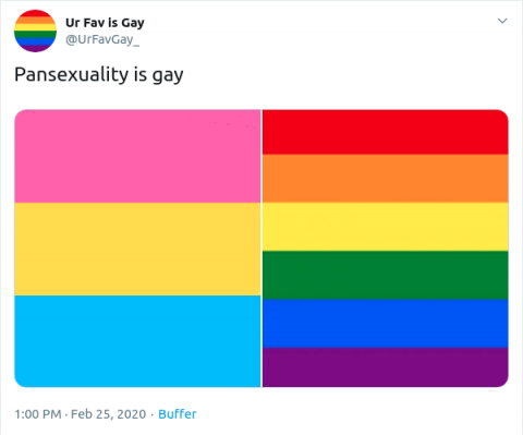 @UrFavGay_ on Twitter: Pansexuality is gay