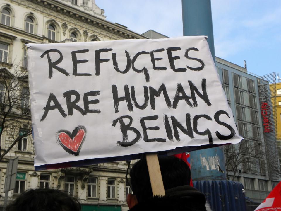 Refugees are human beings