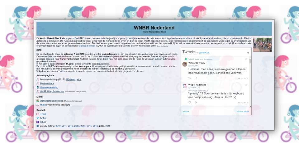 Screenshot of wnbr.nl